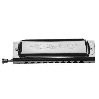 New Silver 10 Holes Chromatic Swan Harmonica For Music Beginner Portable - intl
