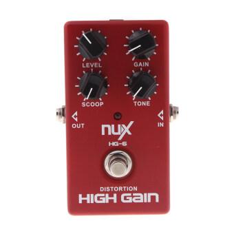 NUX HG-6 มีผลกำไรสูงกีต้าร์ไฟฟ้าแป้นบิดเบือนความจริงเลี่ยงสีแดง (image 1)