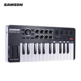 SAMSON Graphite M25 แบบพกพา Mini 25 คีย์ USB MIDI Keyboard Controller พร้อมสาย USB (4 แผ่น /8 ลูกบิดปรับได้)