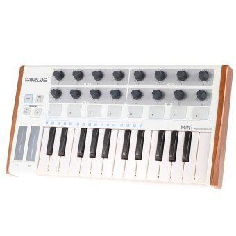 Worlde Ultra-Portable Mini Professional 25-Key USB MIDI Drum Pad and Keyboard Controller Outdoorfree - Intl