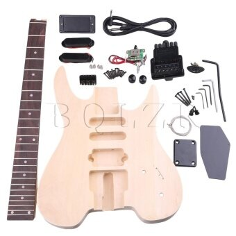 WT-2 Maple Basswood 6 String Electric Guitar Builder DIY Kit - intl