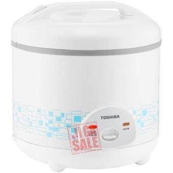 หม้อหุงข้าวอุ่นทิพย์ 1.0 ลิตร เคลือบ Healthy Flonสีฟ้า รุ่น TOSHIBA RC-T10AFS.SB (White)