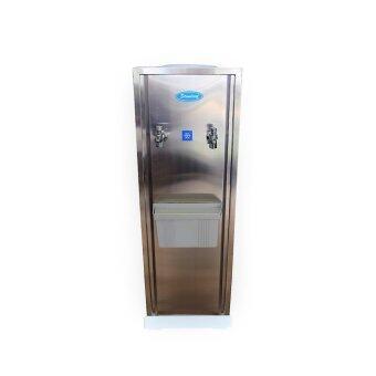 ตู้ทำน้ำเย็น สแตนเลส 2 ก๊อก (ถังคว่ำ) ก๊อก ชุบ Standard By Rwc ST015C