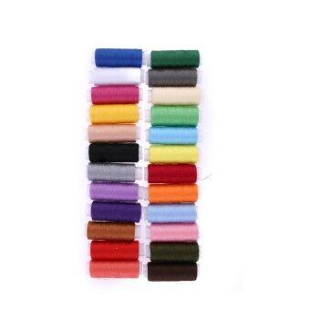 24 different Colours 200 Yard Polyester Embroidery Sewing MachineThreads - intl