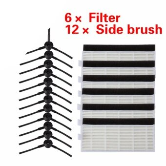 Harga 24pcs/set Brush & Filters for ILIFE A4 Cleaning RobotReplacement chuwi ilife A4 Robot Vacuum Cleaner hepa filter - intl