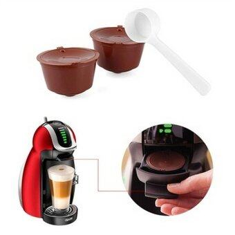 2pcs Refillable Reusable Coffee Capsule Pods Cup for Nescafe DolceGusto Machine - intl