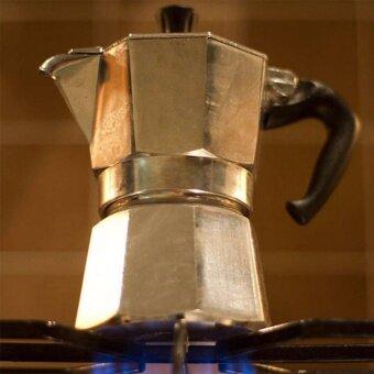 กาต้มกาแฟสดเครื่องชงกาแฟสด แบบปิคนิคพกพา ใช้ทำกาแฟสดทานได้ทุกที ขนาด 3 Cup 150 ml (สีเงิน) - 3