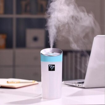 300ml Capacity USB Anion Air Humidifier Aromatherapy Aroma DiffuserCup 2 Mist Modes for Essential Oil for Office Car Home Use Blue -intl