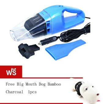 BEST 100W Wet and dry Portable Car Vacuum Cleanerเครื่องดูดฝุ่นในรถยนต์ (Blue) Free Long haired dog bamboo charcoalpackage (Black)