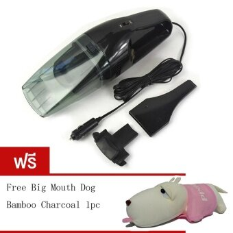 BEST 60W Wet and dry Portable Car Vacuum Cleanerเครื่องดูดฝุ่นในรถยนต์ (Black) Free Long haired dog bamboo charcoalpackage (Pink)