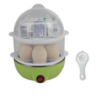 รีวิวพันทิป BEST Dmall เครื่องต้มไข่ หม้อนึ่งอเนกประสงค์ 2 ชั้น Green