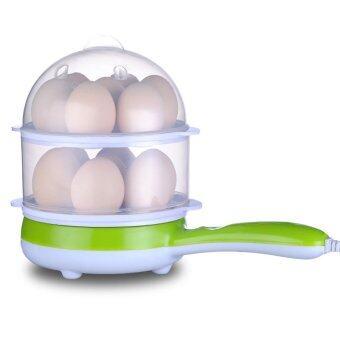 เสนอราคา BEST DMALL Smart double-layer multifunctional electric frying panหม้อนึ่งไฟฟ้าอเนกประสงค์ 2 ชั้น รุ่น- Green
