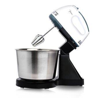 BEST HS Electric Mixer เครื่องผสมอาหารสแตนเลสคุณภาพสูงเครื่องผสมอาหารแบบมือถือ (white black)