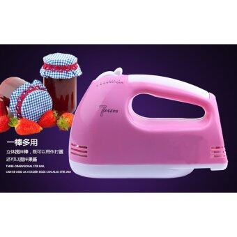 BEST Tmall Electric 7 Speed Egg Beater Flour Mixer Mini ElectricHand Held Mixer (Pink) Free Egg white separator (image 3)