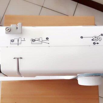 Brother จักรเย็บผ้า รุ่น JV1400 ลายเย็บ 14 ลาย ไฟส่องสว่างสีขาวนวล(สีชมพู) (image 2)