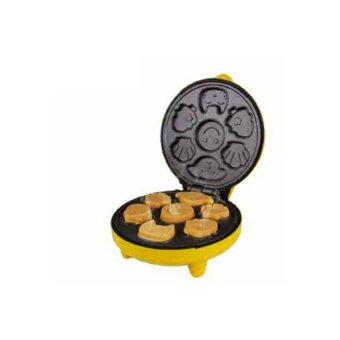 ขอเสนอ Dmall- เครื่องทำแพนเค้ก Pancake Maker 6 ชิ้น แบบพิมพ์รูปดอกไม้และสัตว์การ์ตูน Yellow