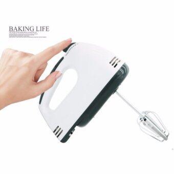 เครื่องผสมอาหาร เครื่องตีไข่ไฟฟ้า Electric 7 Speed Egg Beater FlourMixer Mini Electric Hand Held Mixer (White)(แถมฟรีที่แยกไข่ขาว) (image 4)