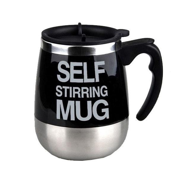 Electric Coffee Stirring Cup แก้วชงกาแฟอัตโนมัติ แบบสแตนเลส 450ML(Black)