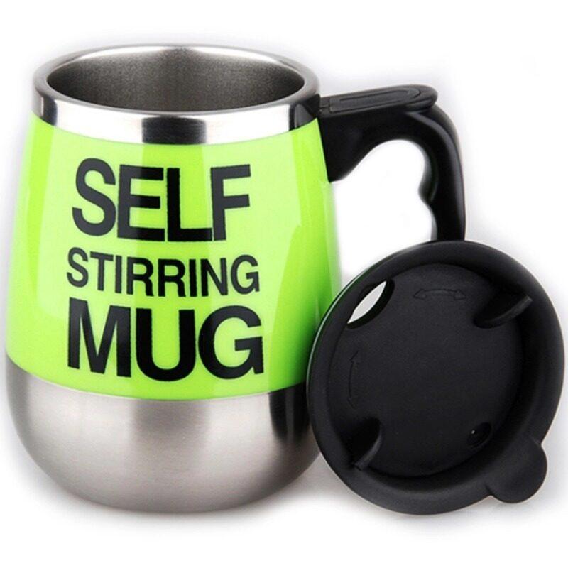 Electric Coffee Stirring Cup แก้วชงกาแฟอัตโนมัติ แบบสแตนเลส 450ML(Green)