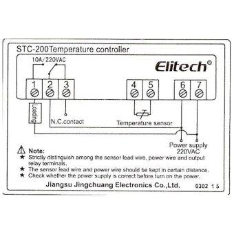 Elitech STC-200 เครื่องควบคุมอุณหภูมิดิจิตอล ตู้ฟักไข่ (image 2)