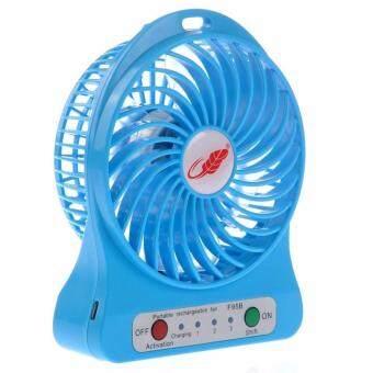eloop Mini fan พัดลมพกพาขนาดเล็ก ชาร์จสายUSB ใส่ถ่าน ลมแรง