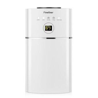 Finether 1.1L/D Digital Air Dehumidifier Anion UV Air Purify EU Plug (White) - intl