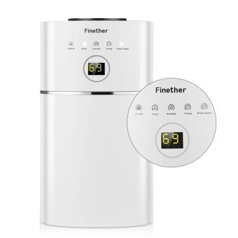Finether 1.1L/D Digital Air Dehumidifier Anion UV Air Purify EU Plug (White) - intl - 5