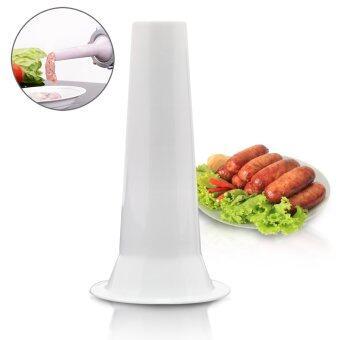 GetZhop ท่อพลาสติกทำไส้กรอก ท่อทำไส้กรอก สำหรับเครื่องบดเนื้อ -สีขาว