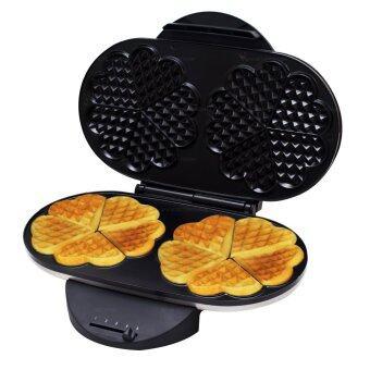 GetZhop เครื่องทำวาฟเฟิล Waffle Maker ทรงรูปหัวใจ แบบ 10 ชิ้นกำลังไฟ 1200 W (Silver)