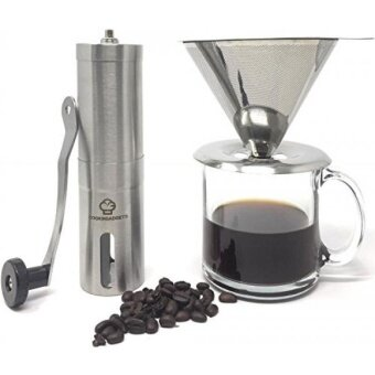 GPL/ CookinGadgets Manual Coffee Grinder  Pour Over Dripper  Adjustable Conical