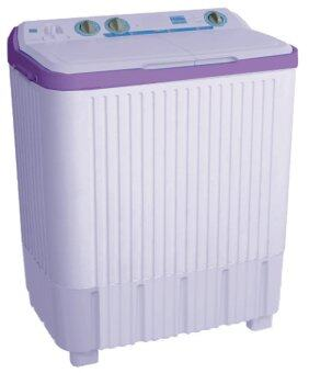 Haier เครื่องซักผ้า 2ถัง รุ่น HWM-T75PF(PP) (White/Pretty Purple)