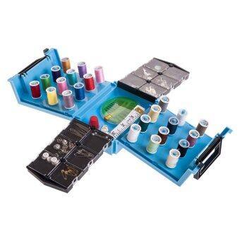 HHsociety Sewing Box กล่องอุปกรณ์เย็บผ้าอเนกประสงค์ (สีฟ้า)