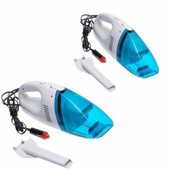เครื่องดูดฝุ่นรถยนต์ High-Power Vacuum Cleaner Portableเครื่องดุุดฝุ่นขนาดเล็ก เครื่องดูดฝุ่นในรถ (สีฟ้า) 2pcs