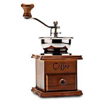 Hot item เครื่องบดกาแฟมือหมุนกล่องไม้คลาสสิค