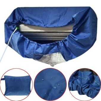 Harga Dark Blue Air Conditioner Cleaning Dust Washing Waterproof Cover Clean Protector - intl