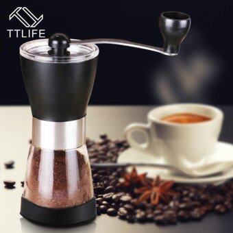 Harga TTLIFE Manual Coffee Grinder Washable Stainless Steel Home Kitchen Mini Manual Hand Coffee Grinder Beans Nuts Grinders Mill - intl