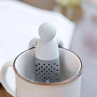 Harga Tea Infuser Tea Strainer Man Shaped Loose Leaf Herbal Spice Filter Infuser - intl