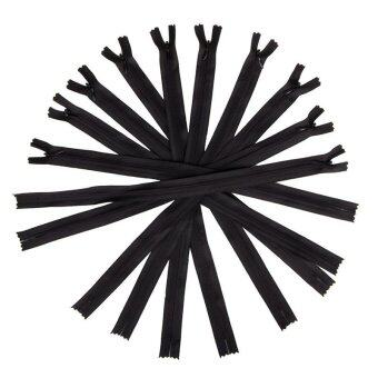 Jiayiqi 10 Pcs Plastic Nylon Zip Coil Sewing Trousers Accessories For Sewing Clothing Black - intl