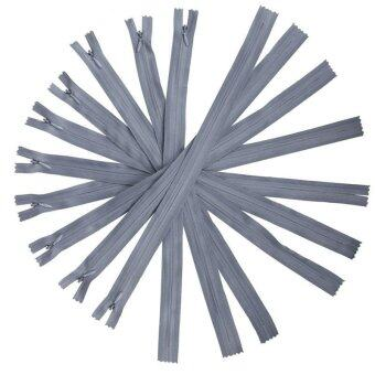 Jiayiqi 10 Pcs Plastic Nylon Zip Coil Sewing Trousers Accessories For Sewing Clothing Grey - intl