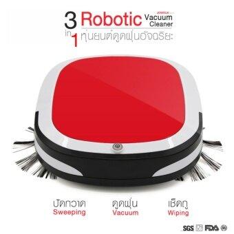 JOWSUA หุ่นยนต์ดูดฝุ่นอัฉริยะ 3in1 Intelligent Robot Sweeping Machine R-526 (สีแดง)