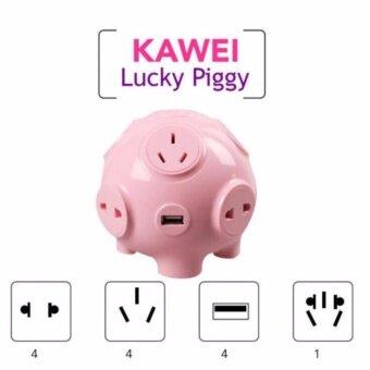 รีวิวพันทิป Kawei pig ปลั๊กไฟพิกกี้ 9 socket~4 USB multifunction (1.8 m)