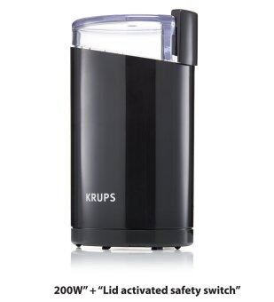 KRUPS F203 Electric Spice and Coffee Grinder with Stainless SteelBlades, 3-Ounce, Black