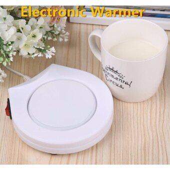 ราคา LIE เครื่องอุ่น ชา กาแฟ และ เครื่องดื่มร้อน พกพา Electronic Cup Warmer (White)