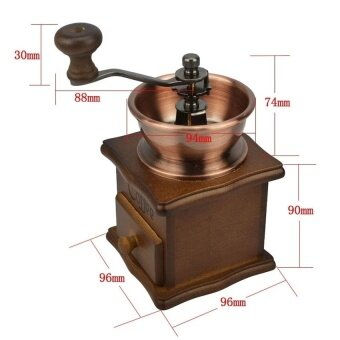 Manual Coffee Grinder Retro Wood Design