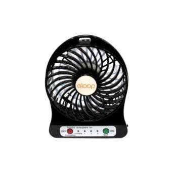 ราคา mini fan พัดลมแบบพกพา ลมแรง (สีดำ)