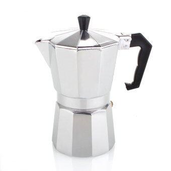 moka pot3 cup กาต้มกาแฟสดเครื่องชงกาแฟสด แบบพกพาใช้ทำกาแฟสดทานได้ทุกที