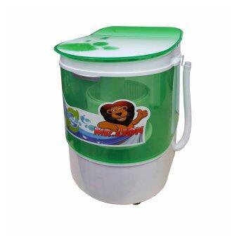 เครื่องซักผ้า จำหน่ายพร้อมตะกร้าสำหรับปั่นผ้าหมาด สีเขียว NEO MINI Wash SW-311