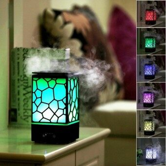 niceEshop Aroma Diffuser Humidifier Chinese Water Cube 200ml Aromatherapy Aroma Diffuser Cool Mist Humidifiers With Auto-Shut-Off 7 Color LED Light For Home Yoga Office Spa Bedroom Baby Room - intl