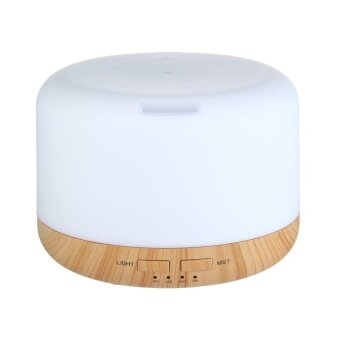 niceEshop400ML Oil Aroma Diffuser Ultrasonic Mist Humidifier LED 7-Color Changing Light (US/PHP/TH/VN)