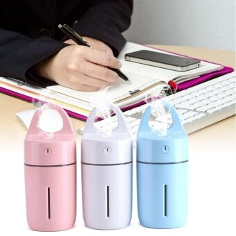 Portable Car Home USB Colorful Night Light Cup Shape Humidifier AirDiffuser Mist Maker Pink - intl - 4